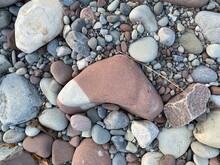Unique Boomerang 2 Color Stone On Beach Shore