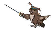Fencer Owl With Sword