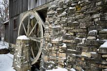 Old Stream Mill In Winter