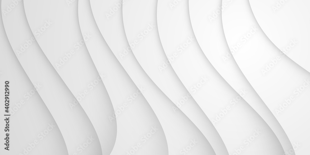 Fototapeta Grey white 2021 abstract background geometry shine and layer element vector for presentation design. Suit for business, corporate, institution, party, festive, seminar, and talks.