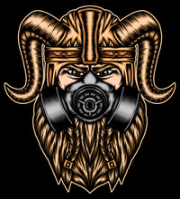 Strongest Viking With Gas Mask