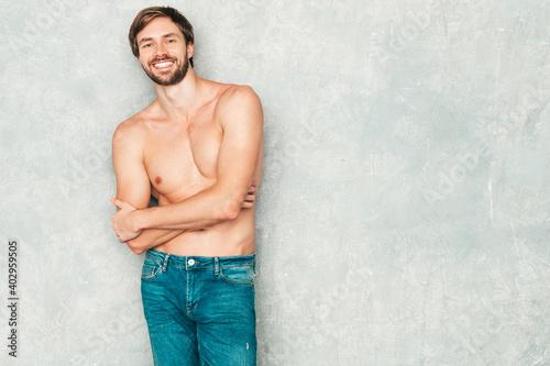 Fotografiet Portrait of sporty handsome strong man