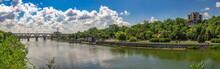 Dnieper River And  Embankment Of Dnipro In Ukraine