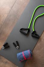 Gym Handgrips, Mat, Chest Expander, Towel