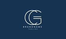 CG Alphabet Initial Letter Monogram Icon Logo Vector Illustration