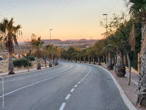 road in the desert Fototapet
