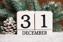 Perpetual Calendar And Fir Branches
