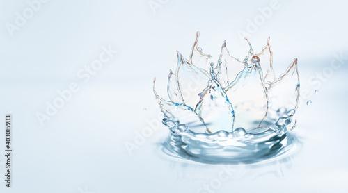 Beautiful lotus flower made of water. Zen concept