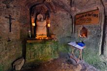 Our Lady Of The Crag Chapel Interior, Knaresborough, Yorkshire, England