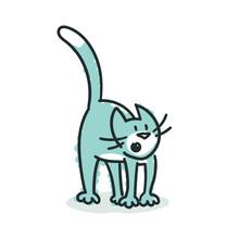 Blue Cat: Attentive (No. 7)