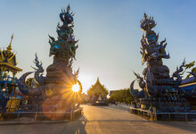 Wat Rong Sua Ten The Amazing Temple At Chiangrai Thailand