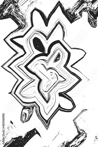 Faccia distorta astratta nero con bianco Tapéta, Fotótapéta