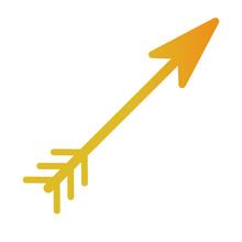 Golden Arrow Decorative Isolated Icon
