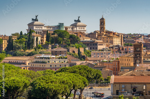 Rome cityscape at summer, Italy.