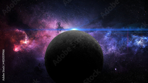 Fotografie, Obraz planet mercury in retrograde 3d illustration
