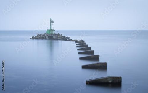 Obraz na plátně lighthouse on the coast