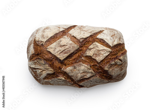 Obraz na płótnie Freshly baked bread isolated