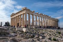 Athens - December 2019: View Of Parthenon