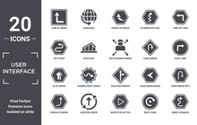 User.interface Icon Set. Include Creative Elements As Turn Up Arrow, Turn Left Only, Curve Arrow, Deviation Arrows, Updating Arrow, 3d Up Filled Icons Can Be Used For Web Design, Presentation,