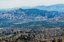 Aerial View Towards Sylmar And San Fernando In Los Angeles California.