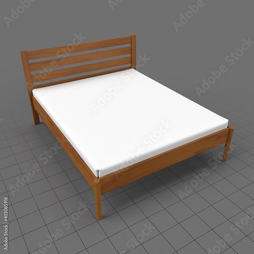 Obraz Modern bed 1 - fototapety do salonu