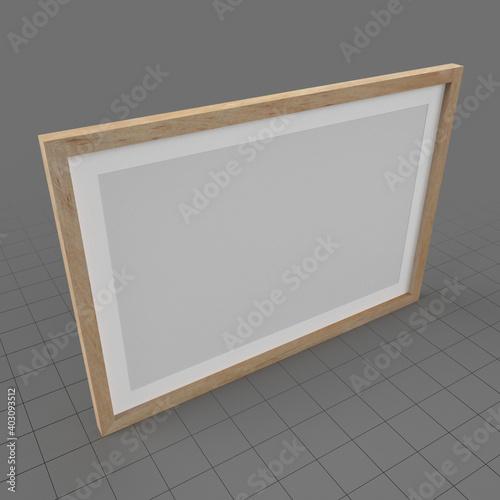 Obraz Wood photo frame - fototapety do salonu