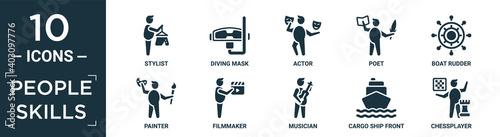 Fotografie, Obraz filled people skills icon set
