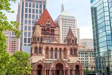 Trinitiy Church In The City Of Boston Massachusetts USA