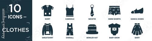 Fotografia filled clothes icon set