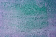 Beautiful Old Teal, Sea-green Decorative Plaster Texture For Any Purposes.