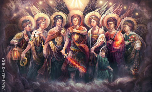 Fotografia the seven Archangels of God
