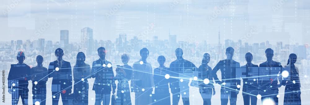 Fototapeta 人材ネットワーク グローバルビジネス