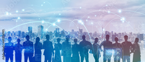 Fototapeta ビジネスネットワーク  グローバルビジネス  obraz