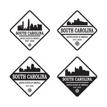South Carolina Skyline Silhouette Vector Logo