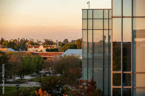 Fotografija Late afternoon view of the central business district of Westminster, California, USA