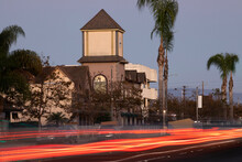 Late Afternoon View Of The Central Business District Of Westminster, California, USA.