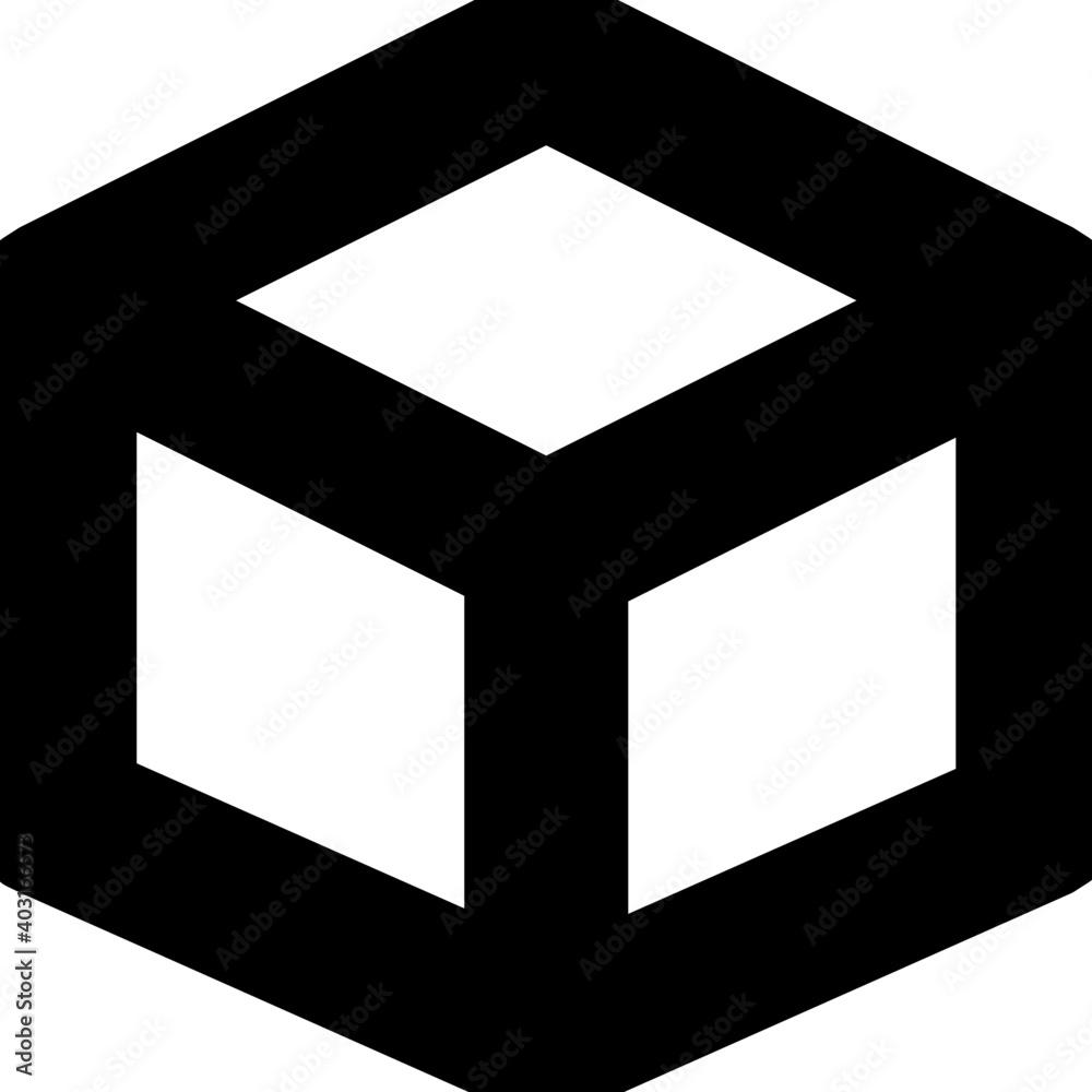 Fototapeta Cube Vector Line Icon