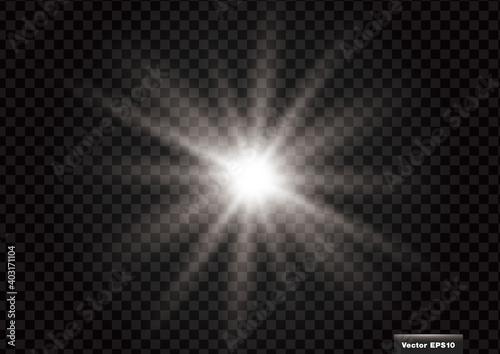 フラッシュ、ビーム、輝く光のイメージ装飾 ベクター素材 Fototapet