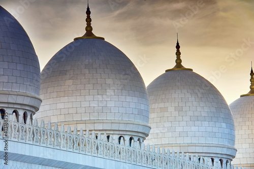 Grande mosquée Cheikh Zayed.Abou Dabi, Émirats arabes unis Fotobehang