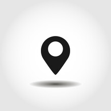 Location Isolated Vector Icon. Interface Element