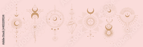 Canvas Vector illustration set of moon phases