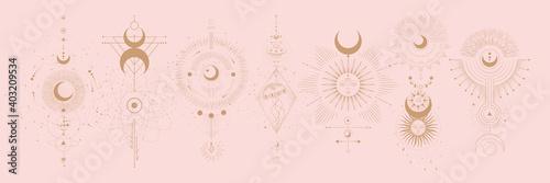 Canvastavla Vector illustration set of moon phases