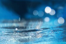Blue Abstract Background, Blue Water Splash