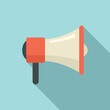 Product manager megaphone icon. Flat illustration of product manager megaphone vector icon for web design