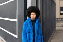 Serious Afro Girl Portrait