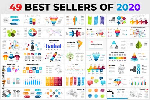 Obraz na plátně 49 Best-Selling Vector Infographics of 2020