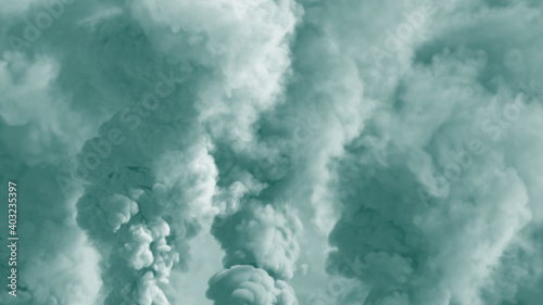 Fototapeta Abstract 3D illustration - colorful background of heavy smoke, carbon dioxide concept obraz