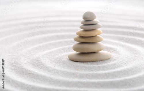 Canvas Print Seven balancing stones