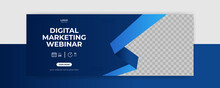 Webinar Facebook Cover Banner Template Social Media Post