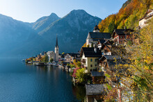 Hallstatt Am Hallstätter See, Salzkammergut,Oberösterreich, Österreich